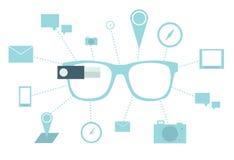 Έξυπνα γυαλιά διανυσματική απεικόνιση