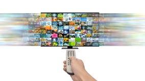 Έξυπνα πολυμέσα ροής TV και Διαδικτύου στοκ φωτογραφίες με δικαίωμα ελεύθερης χρήσης