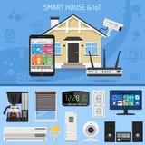 Έξυπνα σπίτι και Διαδίκτυο των πραγμάτων Στοκ Εικόνες