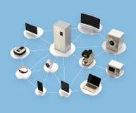 Έξυπνες συσκευές στο δίκτυο Έννοια για IoT ελεύθερη απεικόνιση δικαιώματος