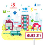 Έξυπνη έννοια πόλεων Στοκ φωτογραφία με δικαίωμα ελεύθερης χρήσης