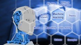 Έξυπνη έννοια τεχνητής νοημοσύνης μηχανών Στοκ Εικόνες