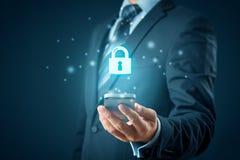 Έξυπνη έννοια τηλεφωνικής ασφάλειας στοκ εικόνες