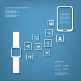 Έξυπνη διανυσματική απεικόνιση έννοιας ρολογιών Στοκ Εικόνες
