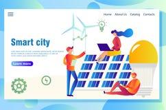 Έξυπνη ιστοσελίδας έννοιας πόλεων eco απεικόνιση αποθεμάτων