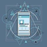 Έξυπνη περίληψη τηλεφωνικών τηλεφώνων κυττάρων τριγωνική Στοκ εικόνες με δικαίωμα ελεύθερης χρήσης