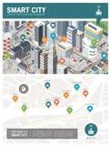 Έξυπνη πόλη infographic ελεύθερη απεικόνιση δικαιώματος