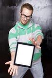 έξυπνη ταμπλέτα ατόμων υπολ& Στοκ φωτογραφία με δικαίωμα ελεύθερης χρήσης