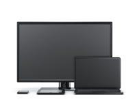 Έξυπνη τηλεόραση lap-top τηλεφωνικών ταμπλετών συσκευών Στοκ Εικόνες