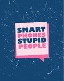 Έξυπνη τυπωμένη ύλη τηλεφωνικών ηλίθια ανθρώπων Στοκ Φωτογραφίες
