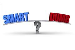 Έξυπνος ή άλαλος; διανυσματική απεικόνιση