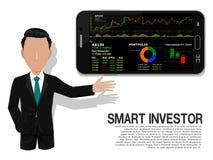 Έξυπνος επενδυτής απεικόνιση αποθεμάτων