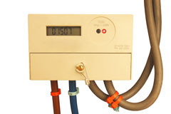 Έξυπνος ηλεκτρικός μετρητής που απομονώνεται Στοκ Φωτογραφίες
