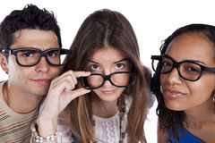 έξυπνος σπουδαστής τρία φί Στοκ Εικόνα
