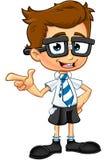 Έξυπνος χαρακτήρας αγοριών απεικόνιση αποθεμάτων