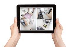 Έξυπνο βίντεο σπιτιών συναγερμών συστημάτων παρακολούθησης CCTV εγχώριων καμερών Στοκ εικόνες με δικαίωμα ελεύθερης χρήσης