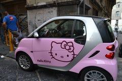 Έξυπνο γειά σου γατάκι στοκ εικόνες