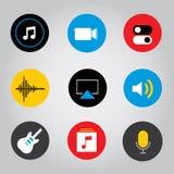 Έξυπνο εικονίδιο κουμπιών τηλεφωνικής κινητό εφαρμογής οθονών επαφής διανυσματική απεικόνιση στοκ εικόνα