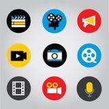 Έξυπνο εικονίδιο κουμπιών τηλεφωνικής κινητό εφαρμογής οθονών επαφής διανυσματική απεικόνιση στοκ εικόνες