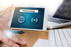 Έξυπνο εικονίδιο κουμπιών εικονιδίων δικτύων Ίντερνετ, ΔΙΚΤΥΩΣΗ Στοκ Φωτογραφία
