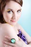 έξυπνο κορίτσι makeup στοκ φωτογραφίες