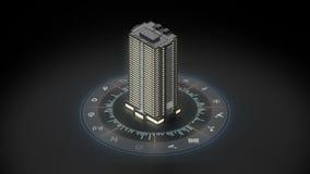 Έξυπνο κτήριο στο διαδίκτυο του συνόλου εικονιδίων πραγμάτων Πληροφορίες γραφικές κανένα κείμενο