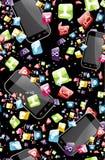 Έξυπνο πρότυπο τηλεφωνικής εφαρμογής Στοκ εικόνες με δικαίωμα ελεύθερης χρήσης