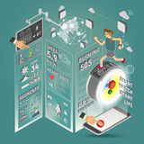 Έξυπνο ρολόι Infographics Στοκ φωτογραφία με δικαίωμα ελεύθερης χρήσης