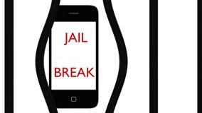 Έξυπνο σπάσιμο φυλακών Ελεύθερη απεικόνιση δικαιώματος
