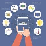 Έξυπνο σπίτι, διανυσματική απεικόνιση ελεύθερη απεικόνιση δικαιώματος
