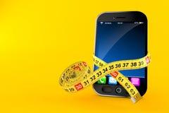 Έξυπνο τηλέφωνο με το εκατοστόμετρο απεικόνιση αποθεμάτων
