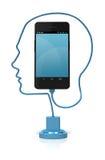 Έξυπνο τηλεφωνικό κεφάλι έξυπνο Στοκ φωτογραφίες με δικαίωμα ελεύθερης χρήσης