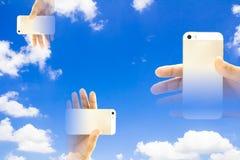 Έξυπνο τηλέφωνο θαμπάδων Στοκ εικόνα με δικαίωμα ελεύθερης χρήσης