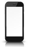 Έξυπνο τηλέφωνο με την κενή οθόνη που απομονώνεται στην άσπρη ανασκόπηση Στοκ φωτογραφία με δικαίωμα ελεύθερης χρήσης