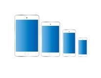 Έξυπνο τηλεφωνικό άσπρο χρώμα που απομονώνεται Στοκ Φωτογραφίες