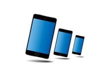 Έξυπνο τηλεφωνικό άσπρο χρώμα Στοκ Εικόνες