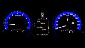 Έξυπνο ψηφιακό ταχύμετρο ταμπλό αυτοκινήτων επίδειξης στοκ εικόνες με δικαίωμα ελεύθερης χρήσης