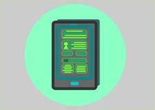 Έξυπνο PC ταμπλετών απεικόνιση αποθεμάτων
