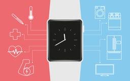 Έξυπνο wristwatch Στοκ εικόνα με δικαίωμα ελεύθερης χρήσης