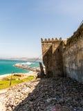 Έξω από τον τοίχο πόλεων Medina στο Tangier, Μαρόκο στοκ εικόνα με δικαίωμα ελεύθερης χρήσης