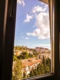 Έξω από το παράθυρο Στοκ Φωτογραφία