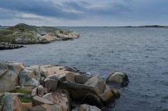 Έξω από το σουηδικό westcoast του Γκέτεμπουργκ μια πρόσφατη ημέρα φθινοπώρου Στοκ Εικόνα