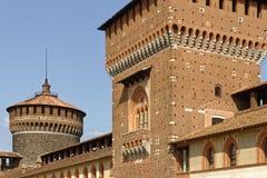 Έξω από το Sforza Castel στο Μιλάνο, Ιταλία Στοκ Εικόνα