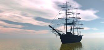 έξω σκάφος θάλασσας Στοκ Εικόνα
