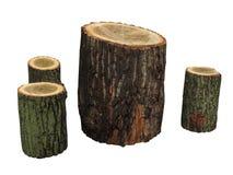 Έπιπλα κήπων που γίνονται το ξύλινο κούτσουρο που απομονώνεται από Στοκ εικόνα με δικαίωμα ελεύθερης χρήσης