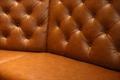 Έπιπλα καναπέδων δέρματος πολυτέλειας Στοκ εικόνα με δικαίωμα ελεύθερης χρήσης