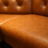 Έπιπλα καναπέδων δέρματος πολυτέλειας Στοκ Εικόνα