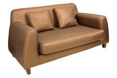 Έπιπλα καναπέδων με το μαξιλάρι που απομονώνεται στο λευκό Στοκ εικόνες με δικαίωμα ελεύθερης χρήσης