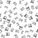 Έπιπλα του άνευ ραφής διανύσματος σχεδίων διαμερισμάτων απεικόνιση αποθεμάτων