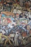 Έπος της μεξικάνικης τοιχογραφίας ανθρώπων στοκ φωτογραφίες